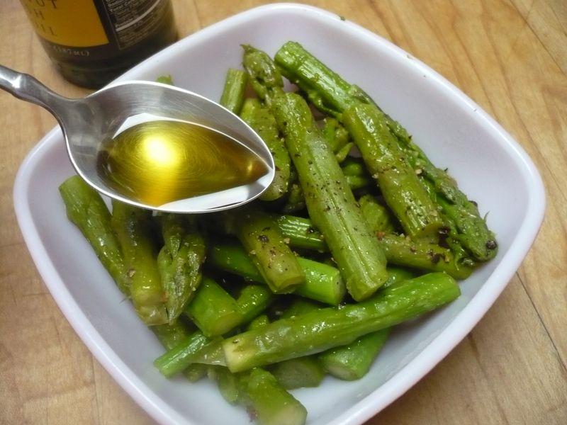 Squash seed oil asparagus