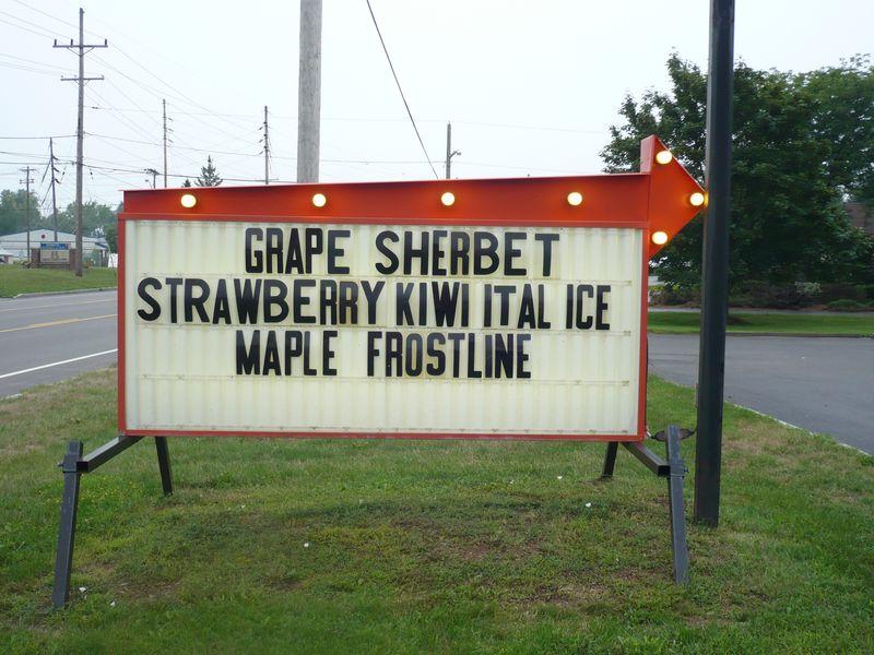 Flx grape sherbet sign