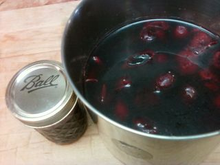 Plum jam in progress