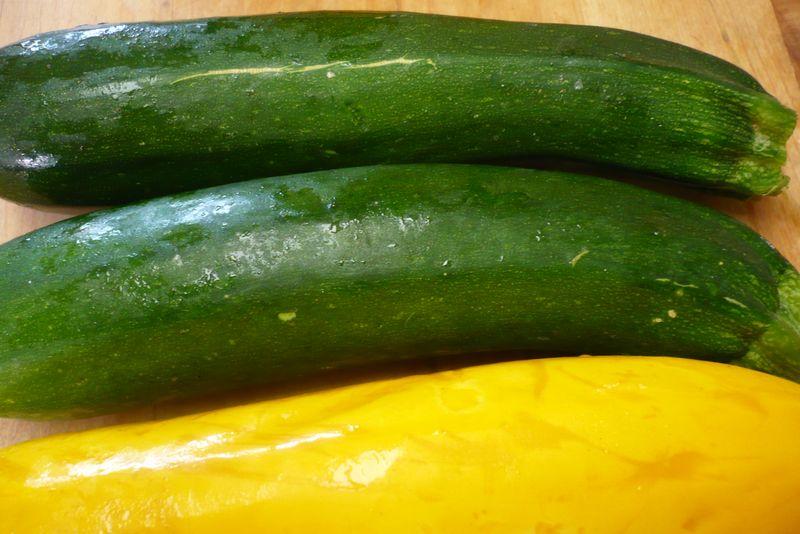 Squash green yellow