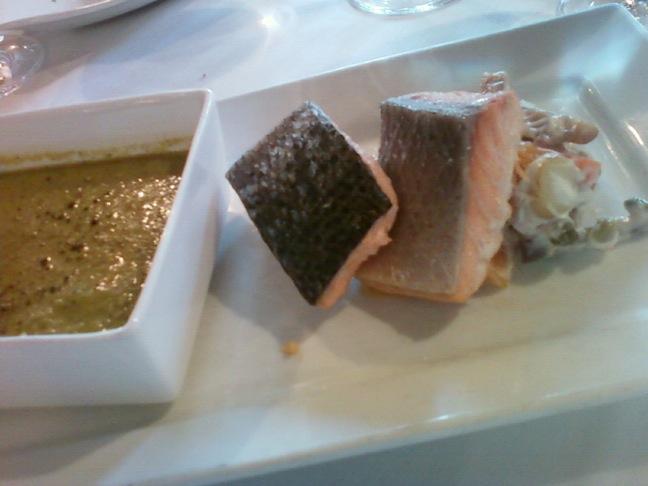 Mirbeau romaine soup salmon