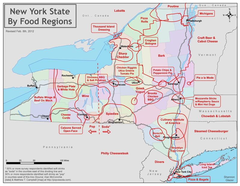 NYS by food regions