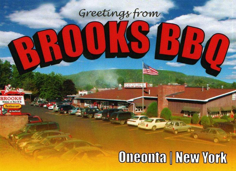 Brooks bbq postcard