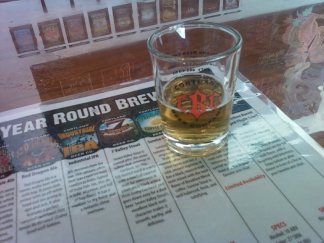 Cortland beer sample menu