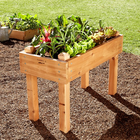SM cedar garden bed on legs WS