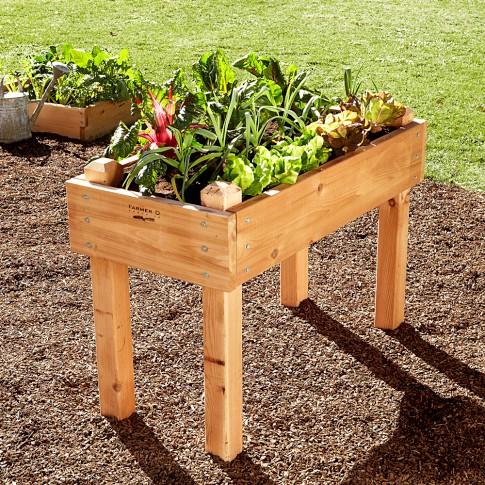 SM cedar garden bed on legs WS