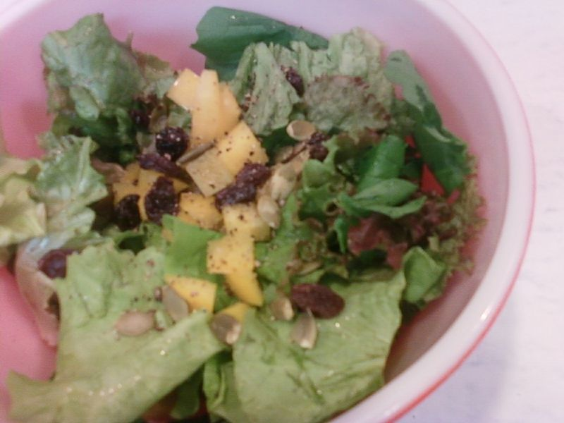 Salad garden box first