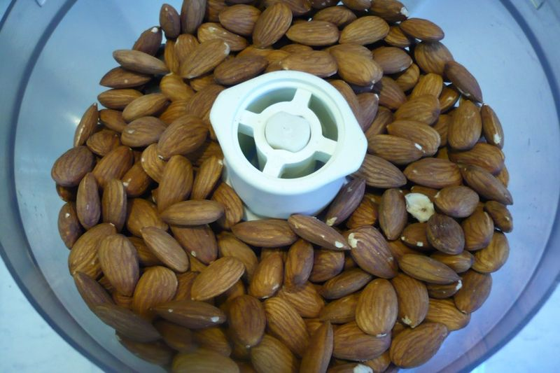 Almonds processor step 1