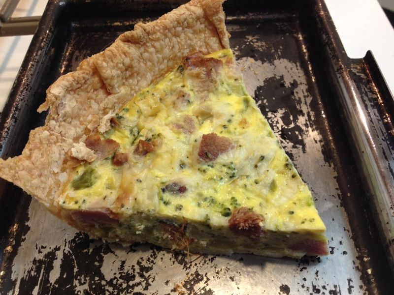 Broccoli quiche smoked ham
