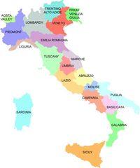 Italy regions map
