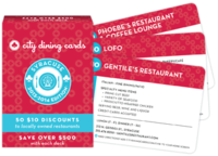 City dining cards syracuse