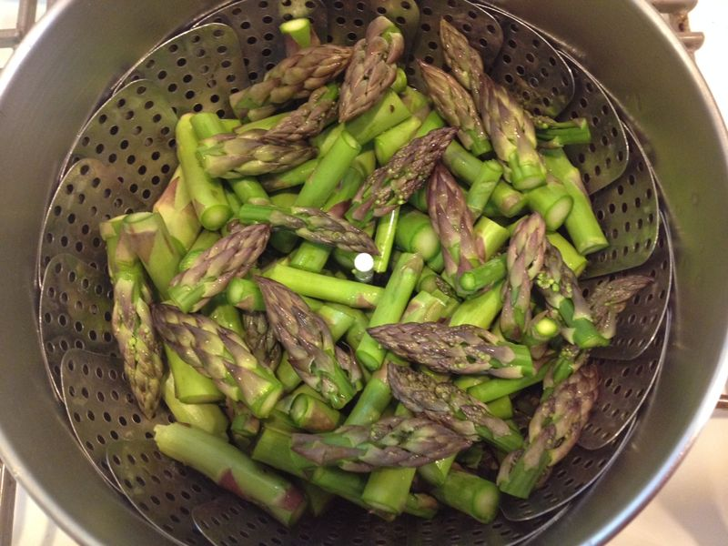 Asparagus tim's steamer