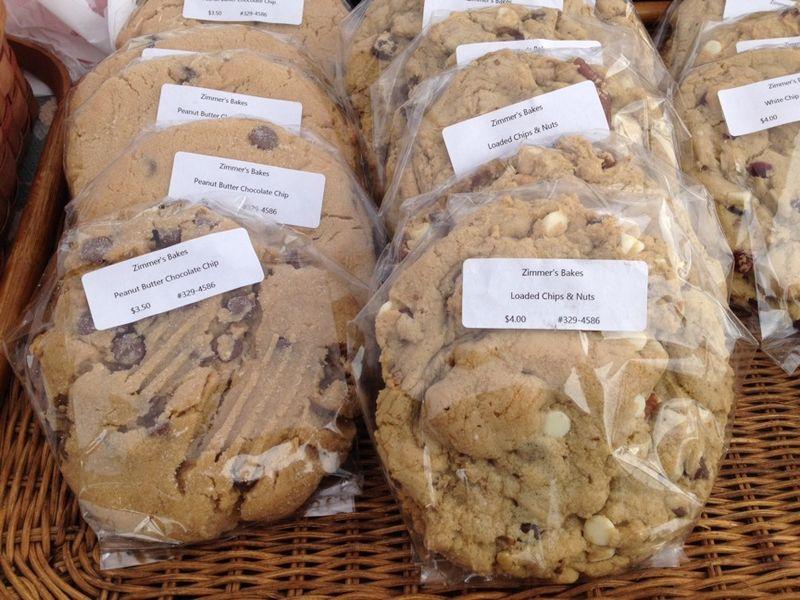 Fayetteville farmers market zimmer's bakes cookies
