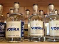 Clayton distillery vodka bottles