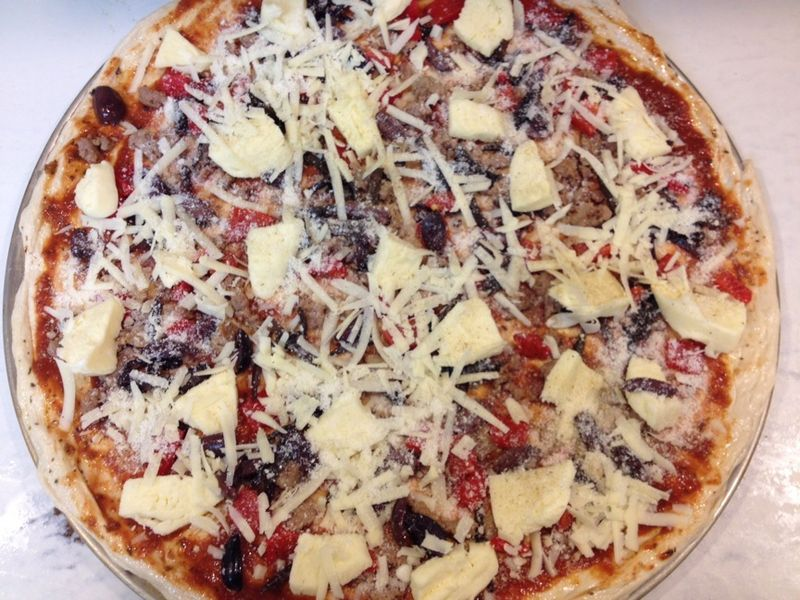 Local pizza unbaked H