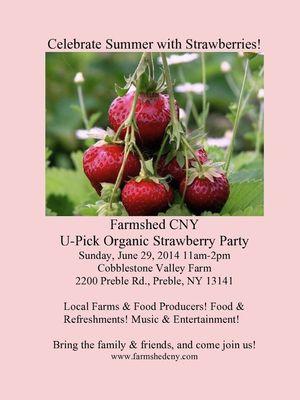 U-Pick Strawberry Party Poster 2014