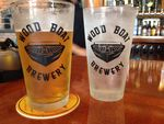 Clayton wood boat brewery pints