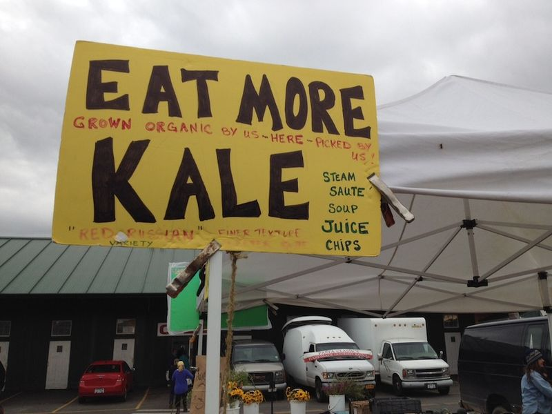 Market eat more kale