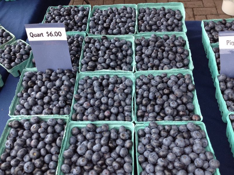 Downtown mkt blueberries H
