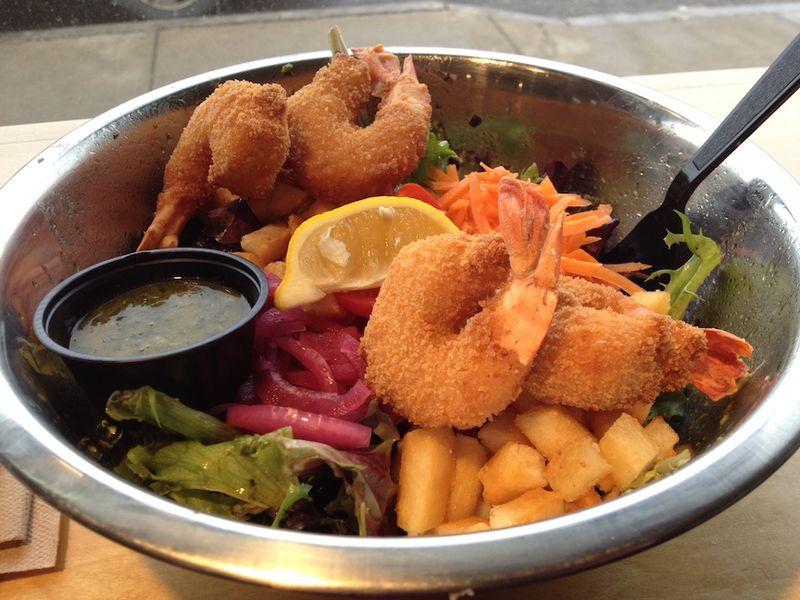 Fish friar salad