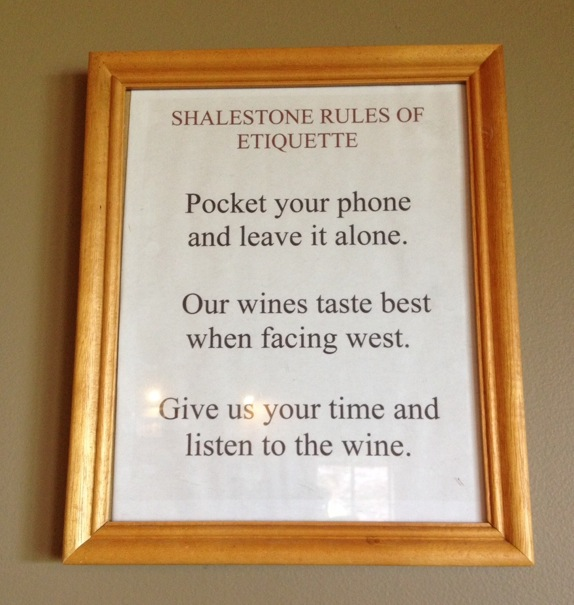 Shalestone etiquette