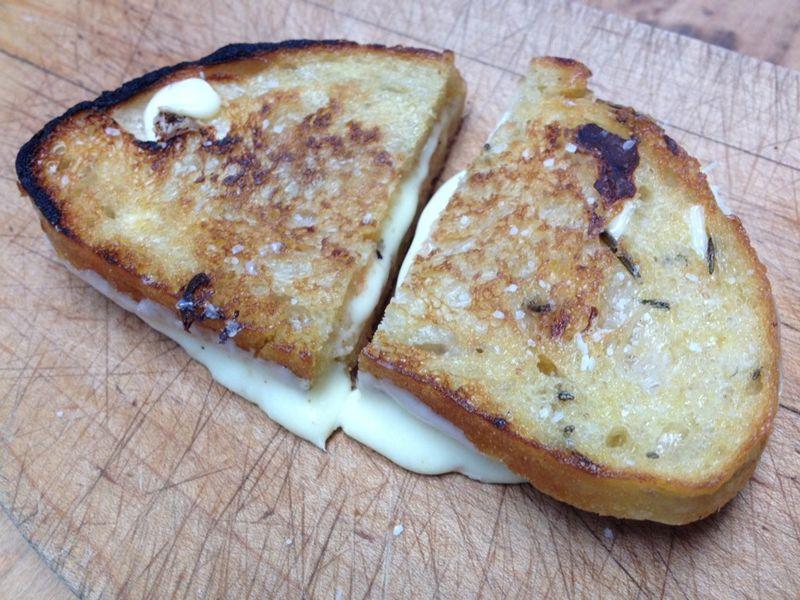 Grilled cheese wegmans bread 2