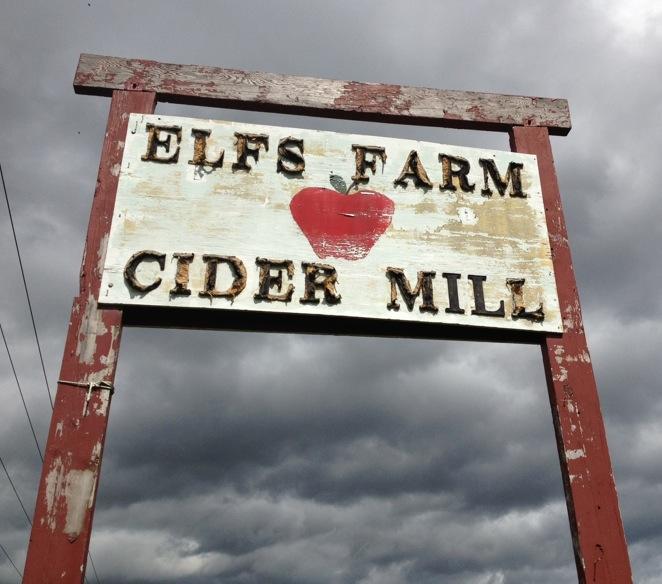 Elfs farm cidery sign plattsburgh