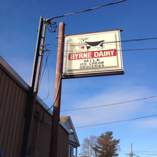 Byrne dairy sign