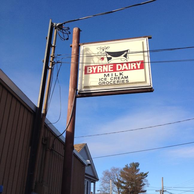 Byrne dairy sign