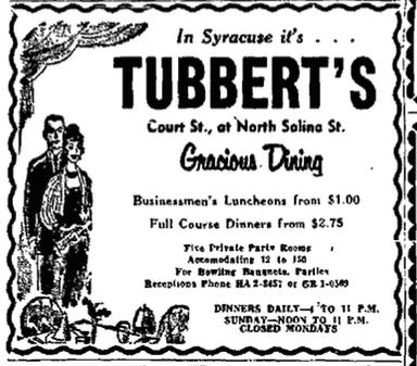 Tubbert's ad screen shot