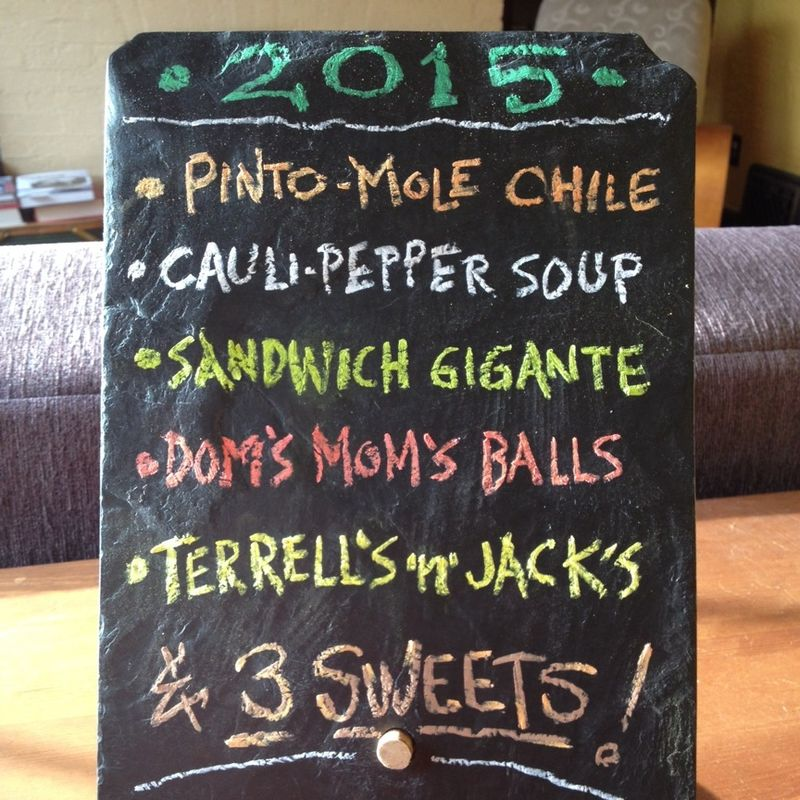 New year's 2015 menu by robert