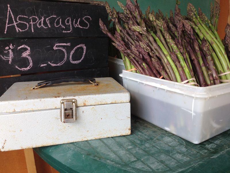 Honor box asparagus tims