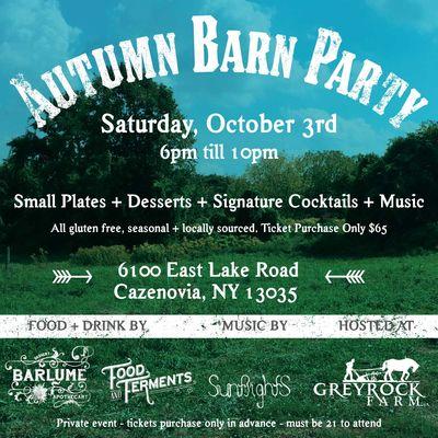 Greyrock Autumn Barn Party