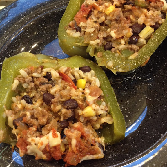 Stuffed pepper baked