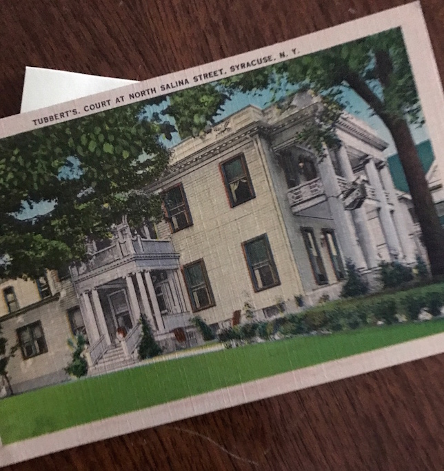Tubberts postcard syracuse history