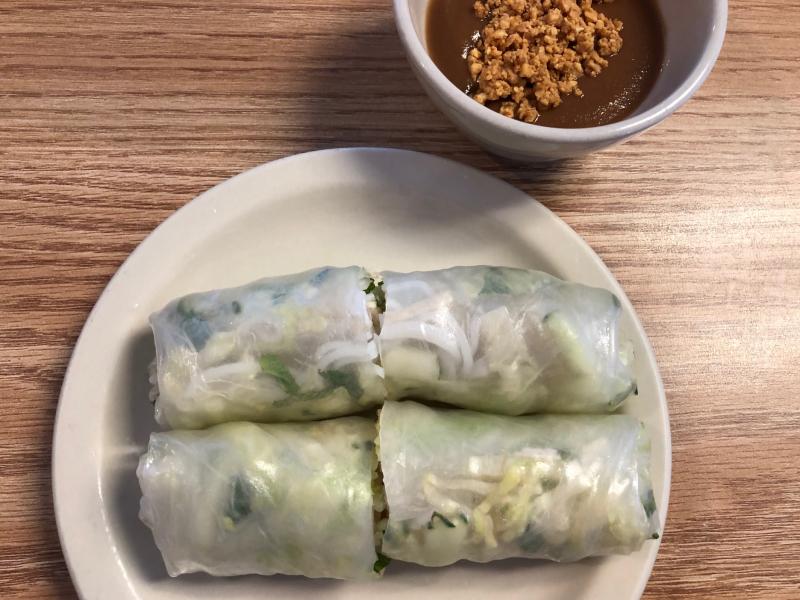 Utica Pho Mekong spring rolls