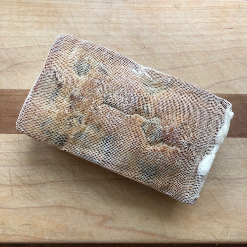 Bc fruitcake cheesecloth