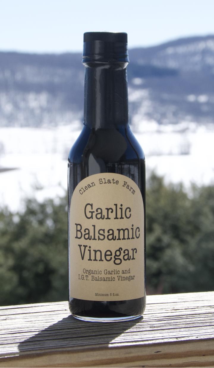 Clean slate farm garlic vinegar