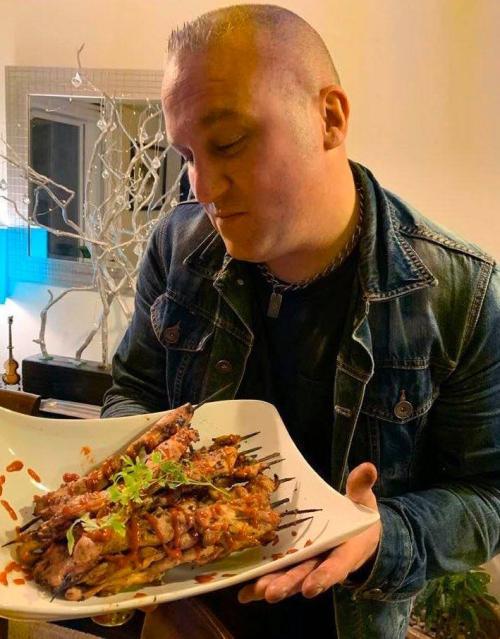 Chad m in kitchen