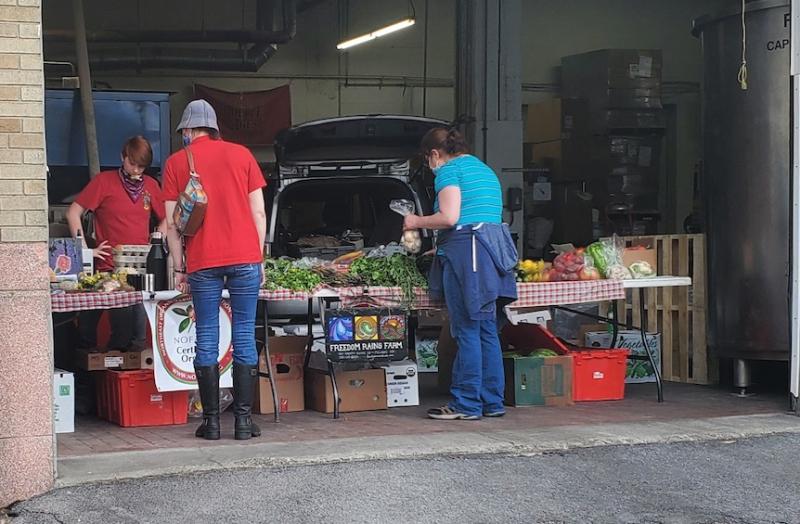 Freedom rains farm pop up market
