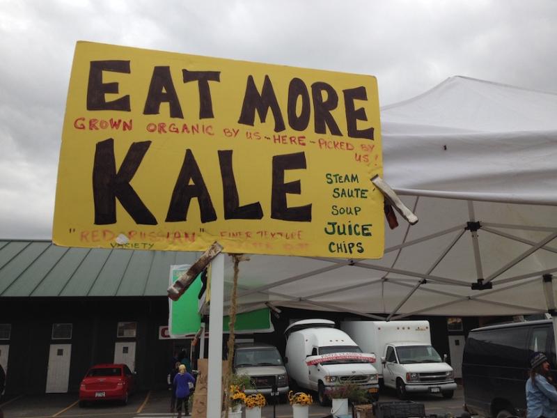 Farmers markets eat more kale